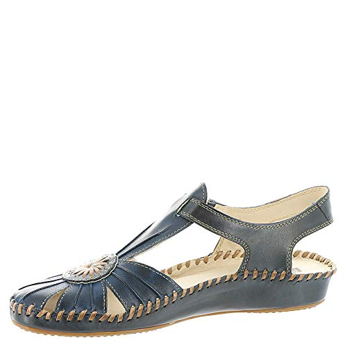 Foncé Pikolinos Vallarta Womens Sandals 8899C1 Puerto Bleu 655 Leather HHvAqawC