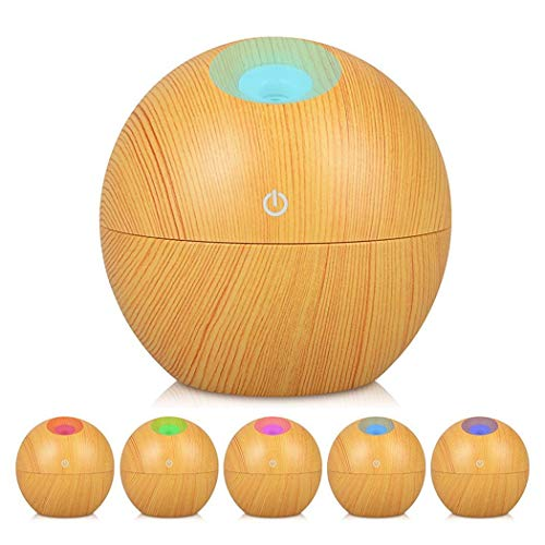 LEANO 130ML Wood Grain Office Home Aroma Essential Oil Diffuser Mist Humidifier Air Purifier Storage Cabinets