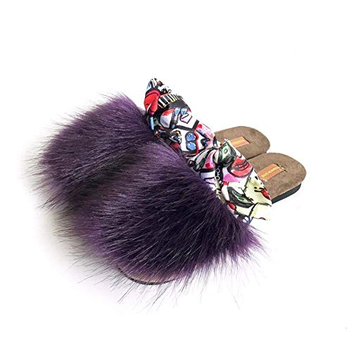Maomao match D'hiver Chaussures Pantoufles Slippers Baotou 's Bow Half All Eu 35 Femmes Sed eIbWDYEH92