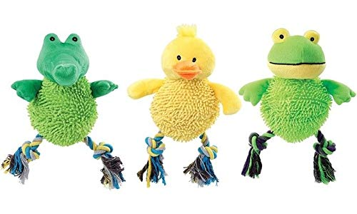 - Imperial Home Laughing Dog Toys - Monkey, Frog & Duck Dog Toy Set - Dog Chew Toys - Cute Dog Toys Pack - Soft Dog Toys Set of 3
