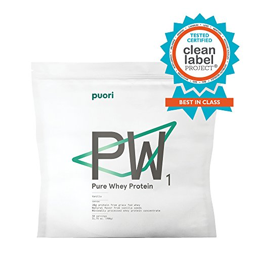 PW1 Pure Grass Fed Whey Protein Shake Powder - Vanilla 31.75 oz. | 30 Serving | Pure, Non OGM Workout Supplement | Natural Mass Gainer by Puori (Image #8)