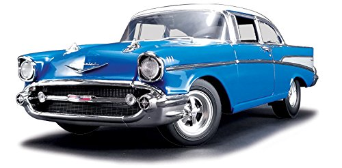 1957 Chevrolet Bel Air Hot Rod Harbor Blue Limited Edition to 500 pieces Worldwide 1/18 Diecast Model Car Acme (1950 Chevrolet Bel Air Vehicle)