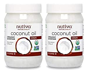 Nutiva Organic Cold-Pressed Virgin Coconut Oil, 15 Ounce (Pack of 2)