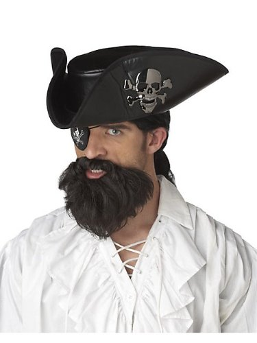 [California Costumes The Captain Beard, Dark Brown, One Size Costume Accessory] (Pirate Hair)