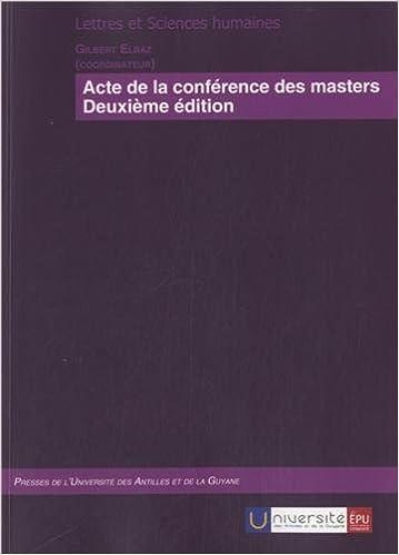 Télécharger en ligne Actes de la conférence des masters pdf, epub ebook