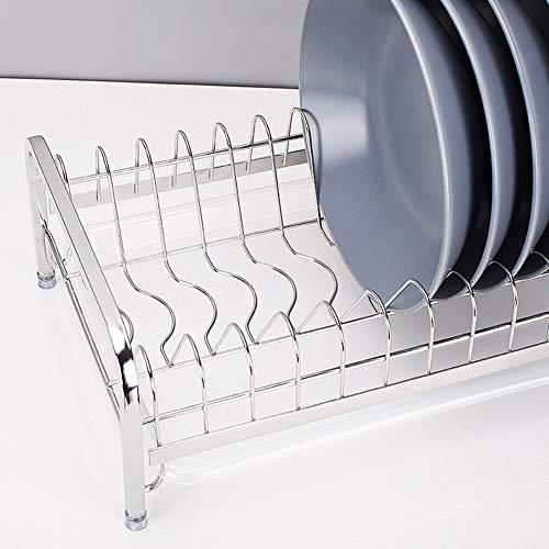 Kitchen Storage Shelf Storage Racks Wall Pot Rack Storage Basket Shelf Baskets Oven Stand 304 Stainless Steel Single-Layer Dish Rack Drain Rack White 244114cm ZHAOYONGLI by ZHAOYONGLI-shounajia (Image #5)