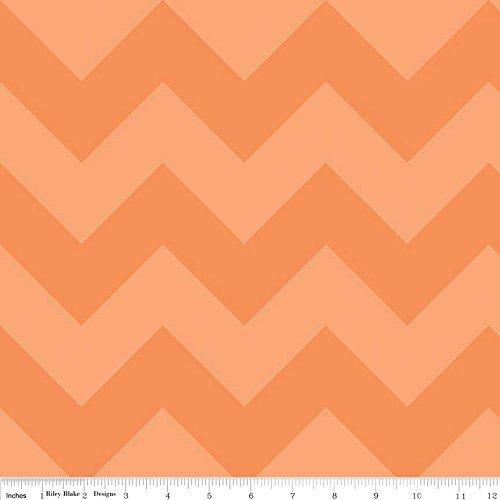 1 Yard Large Chevron Tone on Tone by Riley Blake 100% Cotton Quilt Fabric C390-61 Orange
