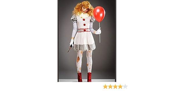 Magic Box Disfraz de Payaso Gris Halloween It Womens Costume S/M ...