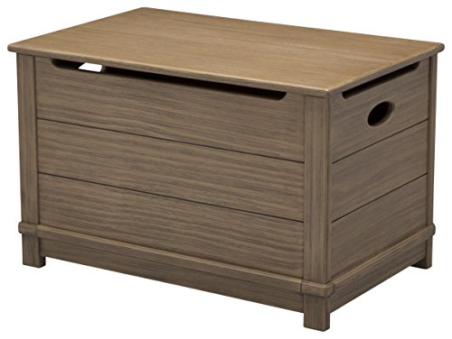 Delta Children Monterey Farmhouse Hope Chest Toy Box, Rustic Caramel (Caramel Medium Finish)