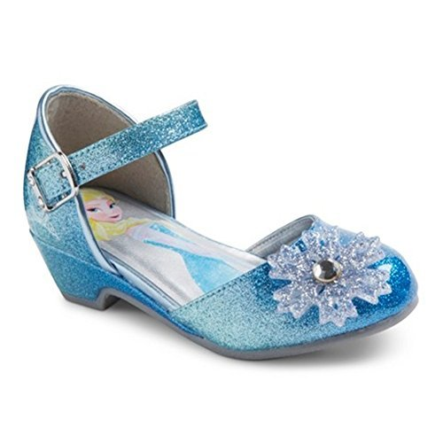 Disney Frozen Toddler Girls Sparkle Dress up Shoes Blue Size 6 (Princess Shoes For Toddlers)