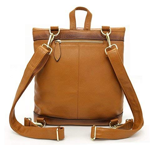 3d101a2f2e Amazon.com  La Poet Women s Genuine Leather 3-way Convertible Shoulder  Crossbody Bag Tote Backpack Purse Rucksack (Camel)  Shoes