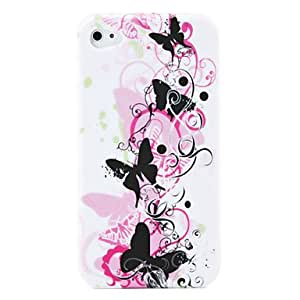 Butterfly Pattern Protective Silica Gel Soft Case for iPhone 4 --- COLOR:6