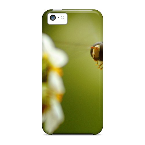 Price comparison product image 5c Scratch-proof Protection Case Cover For Iphone/ Hot Bee On Flower Phone Case