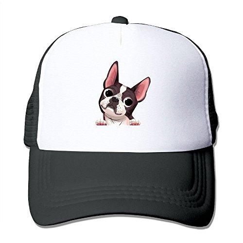 Boston Terrier Adjustable Printing Snapback Mesh Hat Unisex Adult Baseball Mesh Cap