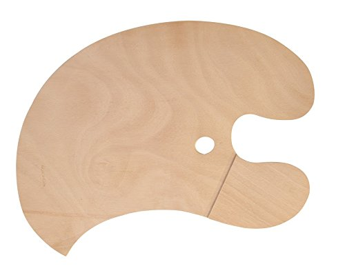 Jack Richeson 696040 Wooden Armed Palette with Left Hand Grip For Right Handed Painter