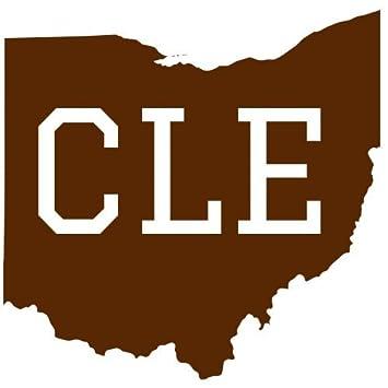 U s custom stickers cle cleveland ohio brown sticker 5