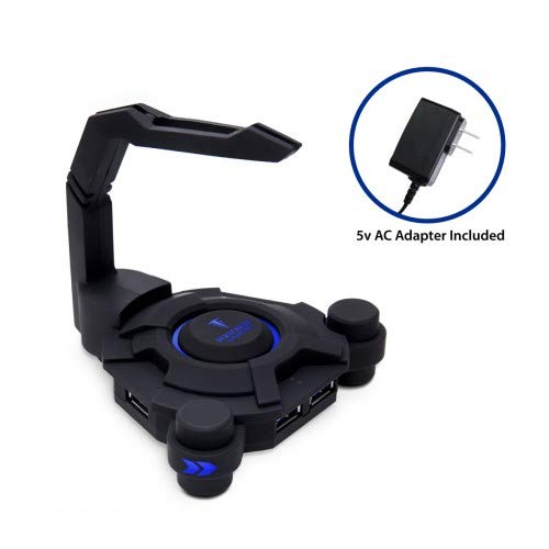 Narfi Gaming Mouse Bungee Stand - Blue LED - 4 Port USB 3.0