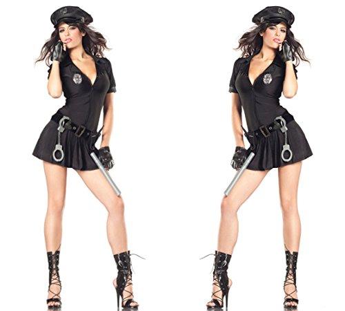 Smile Police uniforms Halloween cosplay costumes Cop Costumes game uniforms (Cop Uniform Halloween)