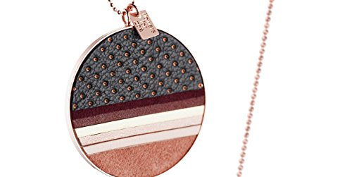 FlowersForZoé Pendentif + chaîne Tara en cuir, plaquage or rose