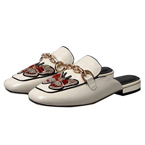 JYshoes Weiß Weiß JYshoes Mules Femme JYshoes Femme JYshoes Mules Mules Weiß Femme Mules JYshoes Weiß Femme raRrAq