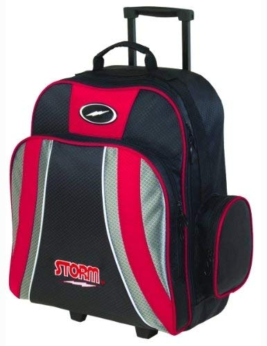 l 1 Ball Roller Bowling Bag, Red/Black/Silver ()