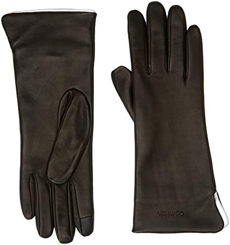 Clr Noir Femme Gants Klein Contrast Calvin 001 black Gloves OFZ5wq