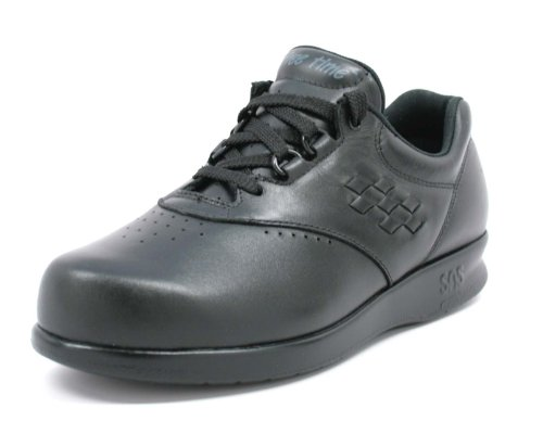 SAS Safety Womens Free Time Black 6M Oxfords Comfort Shoes & Width FREETIME