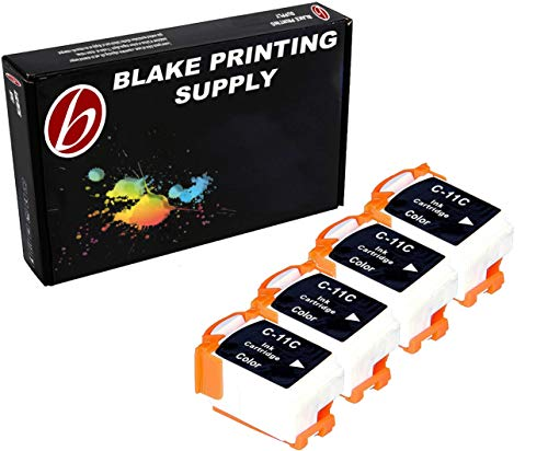 4 Pack Compatible Canon BCI-11 4 Tri Color for use with Canon BJC-55, BJC-70, BJC-80, BJC-85, BJC-85W, LR1. Ink Cartridges for inkjet printers. BCI-11-C Blake Printing Supply