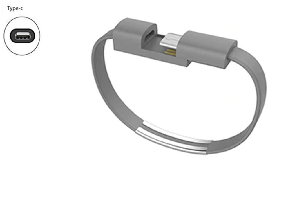 youbo 2 Unids Pulsera USB Tipo C Cable de Datos de Carga para Xiaomi Mi6 A1 Mezclar 2 s para Samsung Galaxy S9 m/ás Oneplus 6