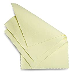 Jewelry Polishing Cloths for Silver, Gold, Brass, Copper - Package of 3