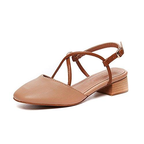 plataforma tiras Cerrado Señoras cuña para Nuevo de Mula SOHOEOS sandalias Mujer Toe alta de sandalias Rosa verano hebilla Dreamgirl zFwdqZ