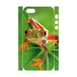 lintao diy 3D Bumper Plastic Customized Case Of Frog for iPhone 5,5S