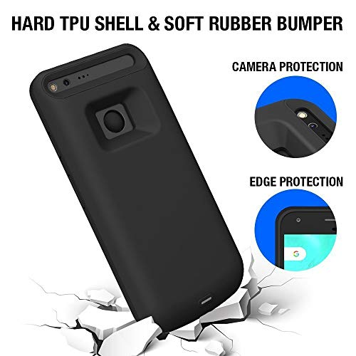 the best attitude 60a7c 8048c [Upgrade] Pixel XL Battery Case, ICONIC 5000mAh Charger Charging Case High  Capacity Portable External Protective Power Bank Pack for Google Pixel XL  ...