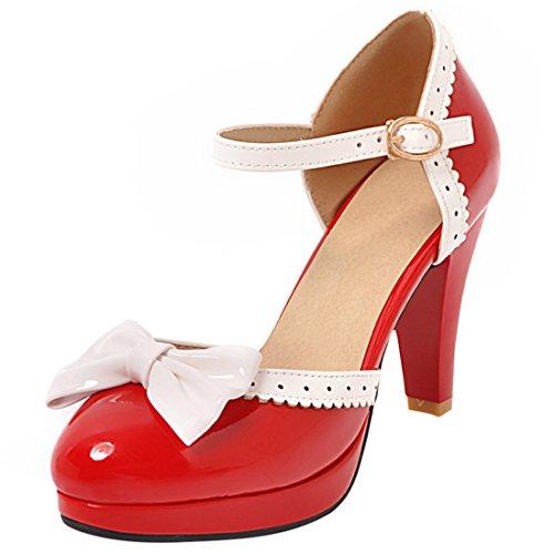 Pour Rouge 8 Qx 2a22278 12 Artfaerie Cheville Femme Sangle De 70wUPSWSq