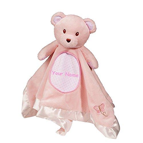 Personalized Douglas Pink Bear Snuggler Baby Blanket