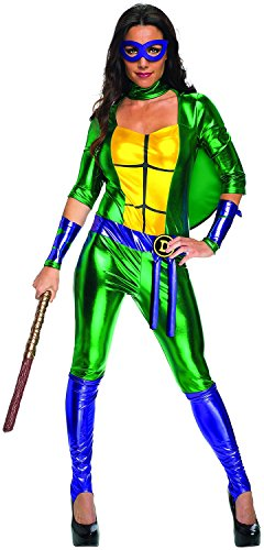 Secret Wishes Women's Teenage Mutant Ninja Turtles Donatello Costume Jumpsuit, Multi, Medium - Teenage Mutant Ninja Turtle Suit