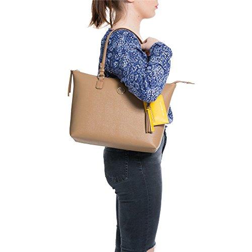 Tommy Hilfiger Reversible Donna Handbag Marrone Chiaro Tan