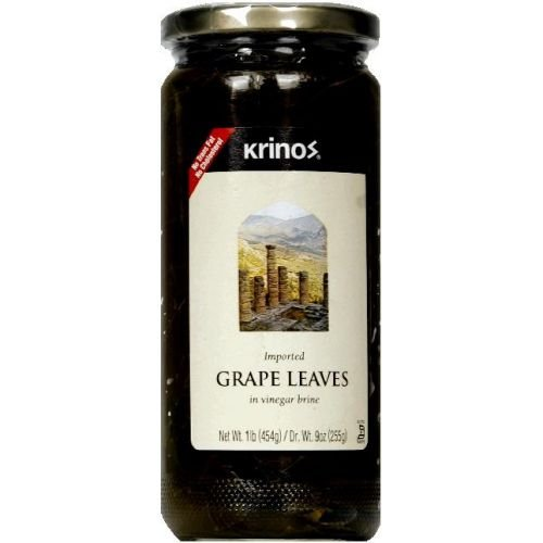 Krinos Imported Grape Leaf in Vinegar Brine, 16 Ounce -- 12 per - Krinos Leaves Grape