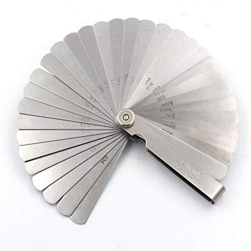 2 Pack Stainless Steel Feeler Gauge Set 16 Blades Universal Standard Metric O...