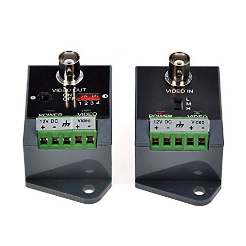 Long Distance Active Video Balun 1 Channel Utp Video Transceiver for CCTV Compatible with All Ahd/Cvi/Tvi/Cvbs Effective Distance 1800M ()