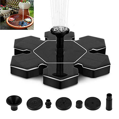 (XSWEJC Outdoor Solar Fountain, Snow Flower Shape (Not Including Storage Battery))