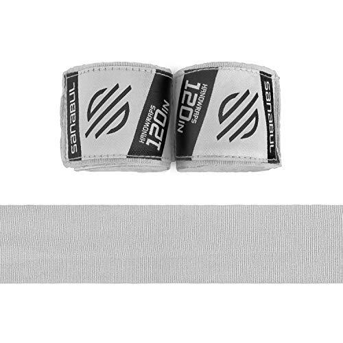 Sanabul Elastic 120 inch Handwraps for Boxing Kickboxing Muay Thai MMA