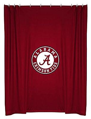 Amazon NCAA Alabama Crimson Tide Shower Curtain Sports Fan Curtains Outdoors