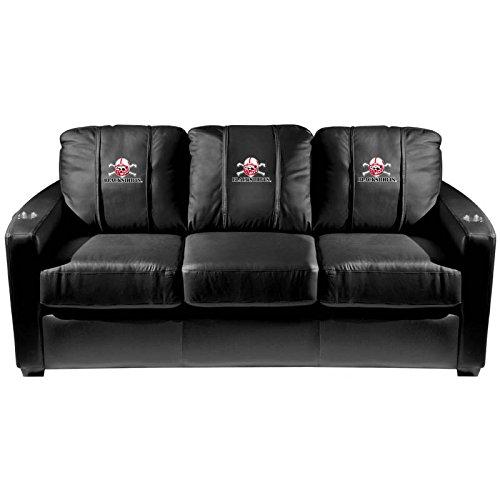 XZipit College Silver Sofa with Nebraska Blackshirts Logo Panel, Black
