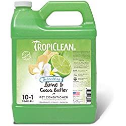 TropiClean Lime and Cocoa Butter Conditioner for Pets, 1 gal, Made in USA