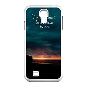 Don't Be Afraid, Just Believe High Quality Phone Case for SamSung Galaxy S4 I9500, Top Quality Don't Be Afraid, Just Believe Cover Case