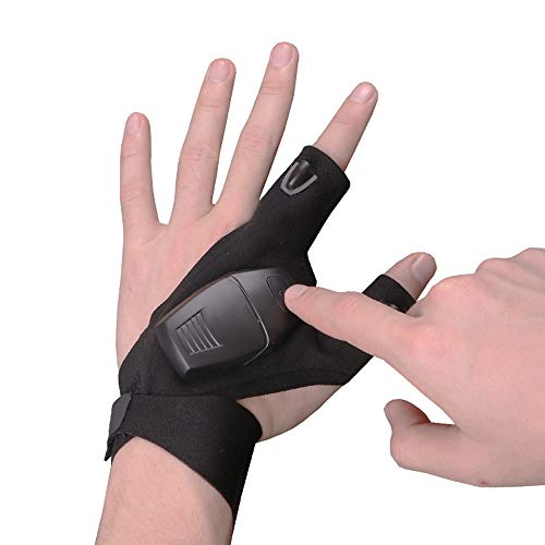 New!DEESEE(TM)Waterproof Night Fishing Glove & LED Light Flashligh Rescue Tool Outdoor Gear