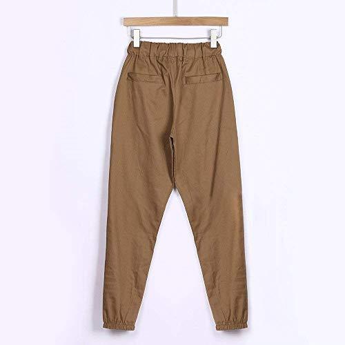 En Forme Lin Des D'été Occasionnels Légers Kaki De Pantalon Décontractée Plage Tissus Avec Hommes Remise Z1xARqR