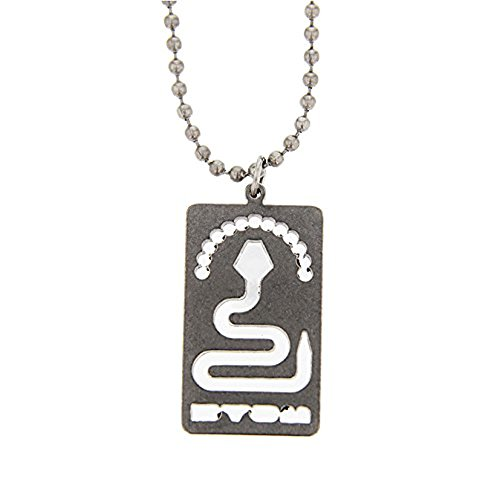 Don't Tread On Me Dog Tag Necklace - Stainless Steel - 24