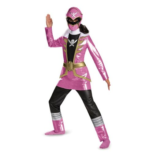 Rangers Power Pirates (Disguise Saban Super MegaForce Power Rangers Pink Ranger Deluxe Girls Costume,)